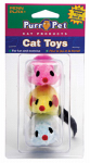 Penn Plax CAT537 3PK Felt Mice Cat Toy