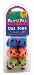Penn Plax CAT538 6PK Fuzzy Mice Cat Toy