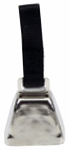 Coastal Pet Products R4511 G BLKCLG Dog Cow Bell, Nickel-Plated, Large
