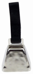 Coastal Pet Products R4511 G BLKCSM Dog Cow Bell, Nickel-Plated, Small