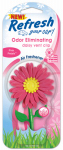 Energizer Battery 09312 Car Air Freshener, Vent Clip, Daisy Flower With Pink Petal Scent