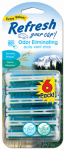 Energizer Battery 09411T Car Air Freshener, Vent Stick, Summer Breeze/Alpine Meadow Scents, 6-Pk.
