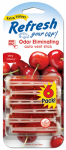 American Covers 09430T Car Air Freshener, Vent Stick, Very Cherry Scent, 6-Pk.