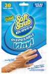 Big Time Products 11230-26 Disposable Vinyl Gloves, Latex & Powder Free, One Size, 30-Ct.