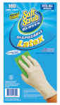 Big Time Products 11300-16 Disposable Latex Gloves, Powder Free, One Size, 100-Ct.