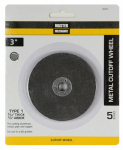 Disston 160353 Cutoff Wheel, 5-Pk., 3-In. x 3/32-In. x 3/8-In.