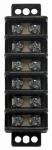 Gardner Bender GTB-406 Terminal Block, 6-Circuit, 30A, 600V, 22-10 AWG, 1/Clam, 5Clams/Master