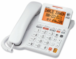 Vtech Communications CL4940 Phone Answering System With Large Display, Corded, White