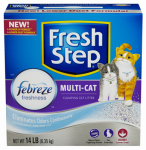 Clorox The 02049 Cat Litter, Multi-Cat Scoopable, Scented, 14-Lbs.
