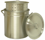 Metal Fusion KK60R Steamer Pot with Basket, Aluminum, 60-Qt.
