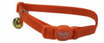 Coastal Pet Products 07001 A SSO12 Cat Collar, Adjustable Breakaway, Orange, 3/8 x 12-In.