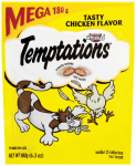 Mars Petcare Us E72300 Temptations Cat Treats, Chicken, 6.35-oz.