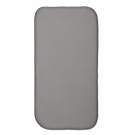 Interdesign 40032 Dish Drying Mat, Pewter/Ivory, 18 x 9-In.