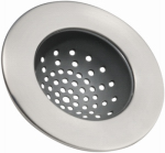 Interdesign 65380 Sink Drain Strainer, Brushed Stainless Steel, Standard Size