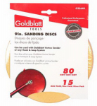 Goldblatt Industries G25640 Vortex Drywall Sandpaper, 80-Grit, 9-In., 15-Pk.