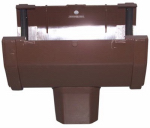 Genova Products RB144B Duraspout Gutter Drop Outlet, Brown
