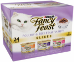 American Distribution & Mfg 50000 Cat Food, Poultry/Beef Sliced Variety, 24-Pk. Cans