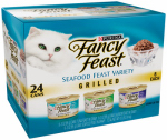 American Distribution & Mfg 57546 Cat Food, Grilled Seafood Variety, 24-Pk. Cans