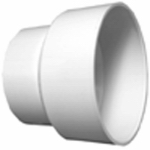 Charlotte Pipe & Foundry PVC 00102  1200HA Plastic Pipe Fitting, DWV  Reducing Coupling, PVC, 4 x 2-In.