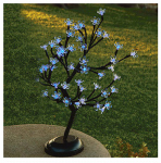 Gerson 92413011 LED Bonsai Tree, 48 Blue Lights, Battery-Operated, 18-In.