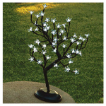 Gerson 92413012 LED Bonsai Tree, 48 White Lights, Battery-Operated, 18-In.