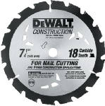 Dewalt Accessories DW3191 Circular Saw Blade, 7.25-In., 18-Teeth
