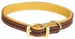 Weaver Leather 06-1313-19 Deer Ridge Dog Collar, Leather/Deerskin, 1 x 19-In.
