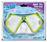 Aqua Leisure Ind AQM1141 Swim Mask, Dual Lens, Adult