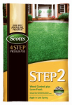 Scotts Lawns 34161 Lawn Pro Step 2 Lawn Fertilizer + Weed Control, 28-0-3, Covers 15,000-Sq. Ft.