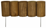 Greenes Fence RC34B Log Edging, Flexible, 5 x 16-In.