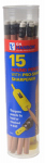 Hanson C H 02010 Marking Pencils With Sharpener, Round, 15-Pk.