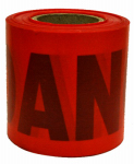 "Hanson C H 16103 ""Danger"" Tape, Red, Waterproof, 300-Ft."