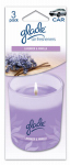 Auto Expressions 800002131 Car Air Freshener, Paper Candle With Lavender/Vanilla Scent, 3-Pk.