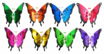 "Exhart Environmental Systems 50201 Windywings, 7"", Butterfly Plant Stake, Assorted Colors & Designs"