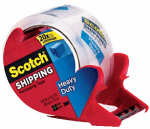 3M 3850S-RD Heavy Duty Shipping Packaging Tape, 1.88-In. x 38-Yds.