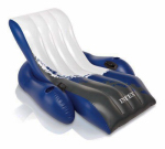 Intex Recreation 58868EP Floating Recliner Lounge, White/Blue, 71 x 53-In.