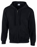 Gildan Usa 244959 XXL BLK Full Zip Hoody