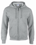 Gildan Usa 244979 XXL GRY Full Zip Hoody