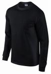Gildan Usa G2410BKL-L LG BLK L/S T Shirt
