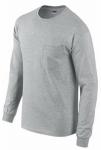 Gildan Usa G2410SG-M MED GRY L/S T Shirt
