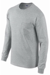 Gildan Usa 285478 XL GRY L/S T Shirt