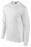 Gildan Usa 285493 LG WHT L/S T Shirt