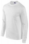 Gildan Usa 285494 XL WHT L/S T Shirt
