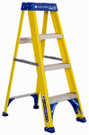 Louisville Ladder FS2004 4-Ft. Step Ladder, Fiberglass, Type I, 250-Lb. Duty Rating