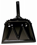 Impact Products 4212-90 Heavy Duty Dust Pan, Black, Metal, 12-In.