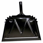Impact Products 4216-90 Heavy Duty Dust Pan, Black, Metal, 16-In.