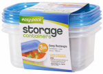 Flp 8065 3PK24OZ Rectangle Container