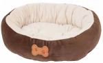 Petmate 26944 Nesting Pet Bed, Brown, 20 x 16-In.
