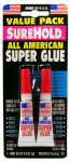 Surehold Div Barristo SH 325 All American Super Glue, 3-gm. Tube, 2-Pk.