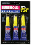 Surehold Div Barristo SH 350 5-Star Super Glue, 3-Gram, 6Pk.